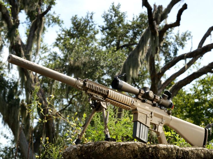 Snipers de Fort Sill adotam fuzil M110
