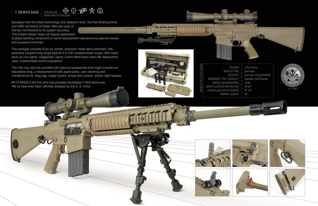 Pin Sr-25-airsoft-guncnc-bodyno-stock-usd$8950-shooter ... M110 Sniper Rifle Suppressed