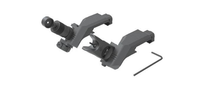 45 Offset Folding Micro Sight Kit 200-600 Meter